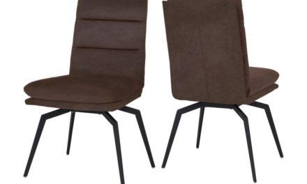 CANETT Uri spisebordsstol – Mørkebrun