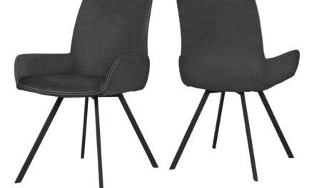 CANETT Casoli spisebordsstol m. armlæn – Mørkegrå