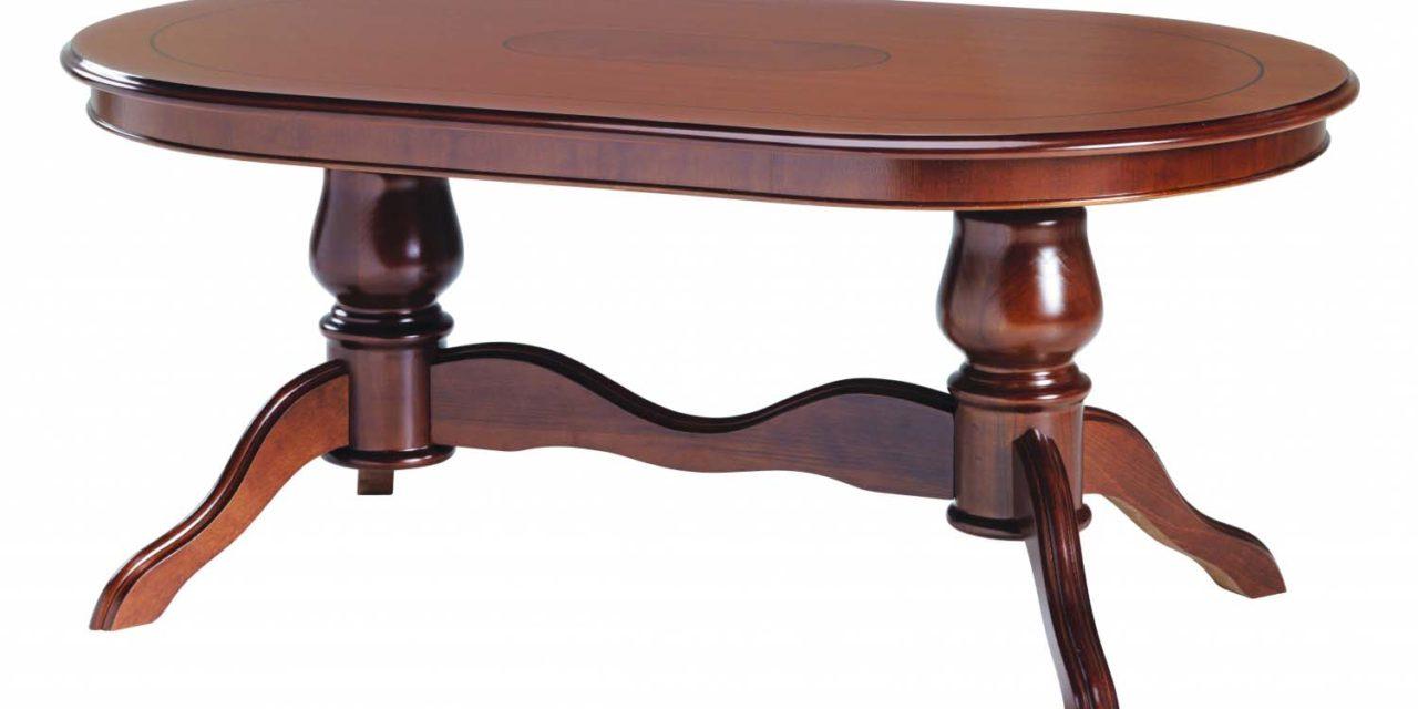 Amadeus sofabord – valnød, oval (130×80)