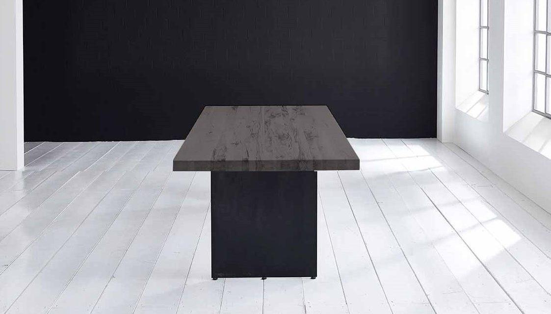Concept 4 You plankebord – Lige kant med Line ben, m. udtræk 6 cm 180 x 100 cm 07 = mocca black