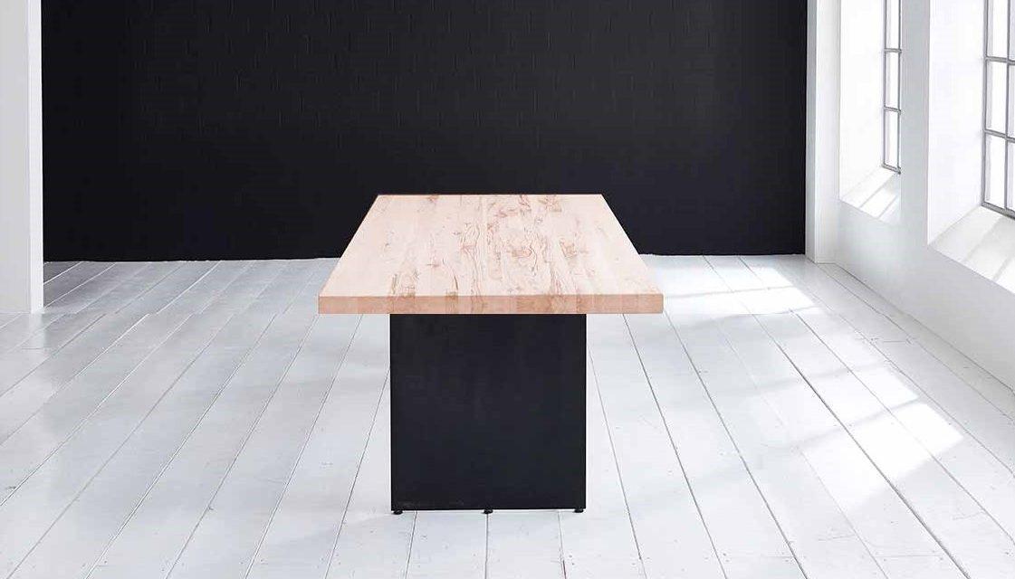 Concept 4 You plankebord – Lige kant med Line ben, m. udtræk 6 cm 200 x 100 cm 03 = white wash