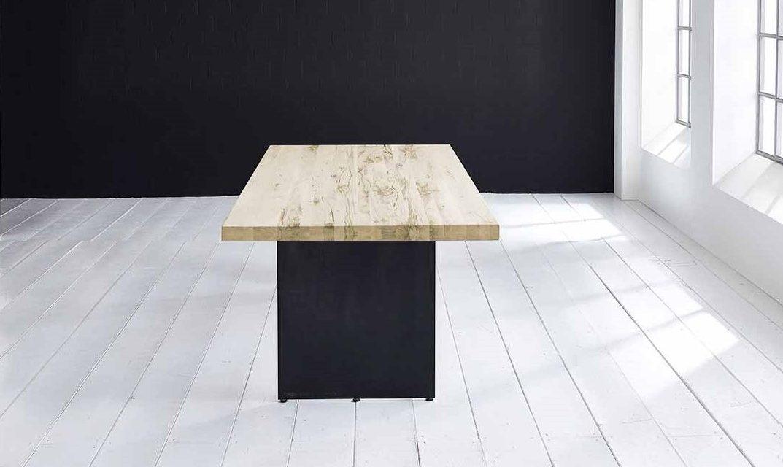 Concept 4 You plankebord – Lige kant med Line ben, m. udtræk 6 cm 300 x 110 cm. 05 = sand