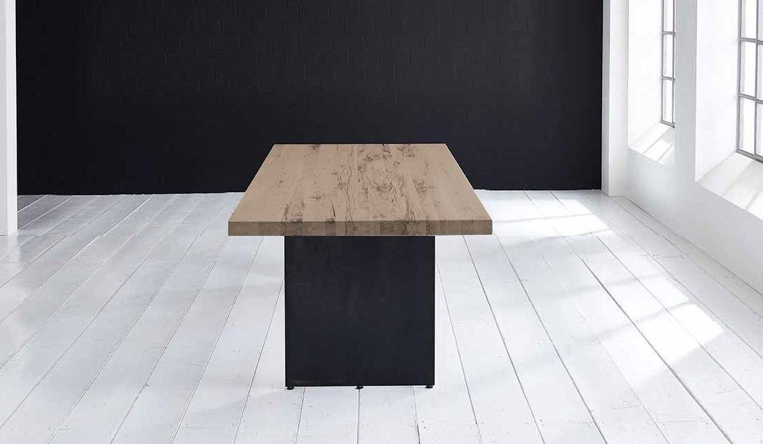 Concept 4 You plankebord – Lige kant med Line ben, m. udtræk 6 cm 300 x 100 cm 02 = smoked