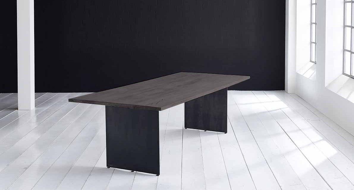 Concept 4 You plankebord – Lige kant med Line ben, m. udtræk 3 cm 200 x 100 cm 07 = mocca black