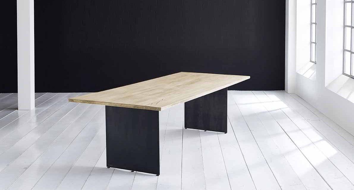 Concept 4 You plankebord – Lige kant med Line ben, m. udtræk 3 cm 200 x 100 cm 05 = sand