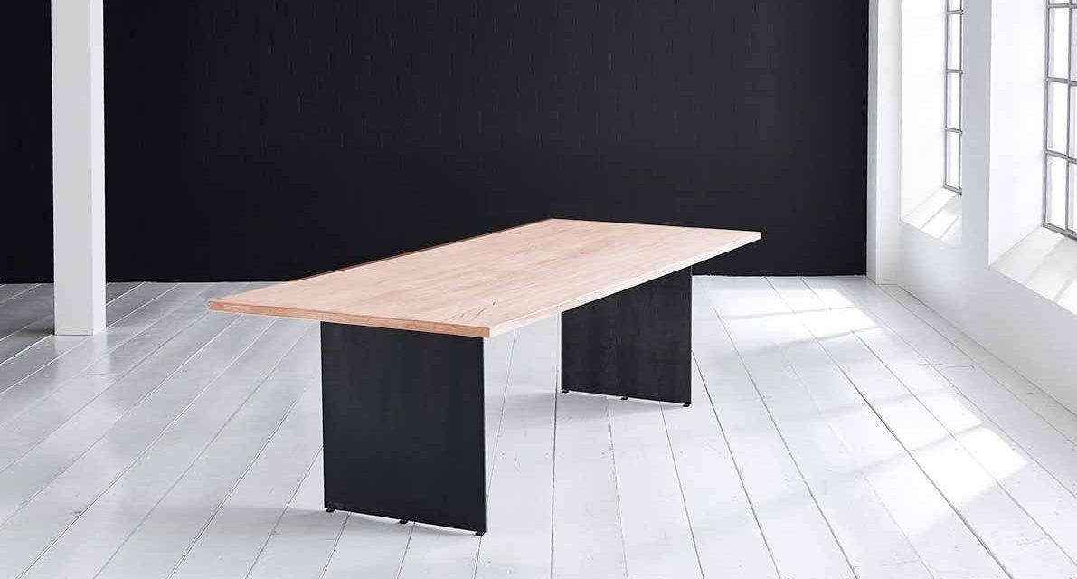 Concept 4 You plankebord – Lige kant med Line ben, m. udtræk 3 cm 260 x 100 cm 03 = white wash