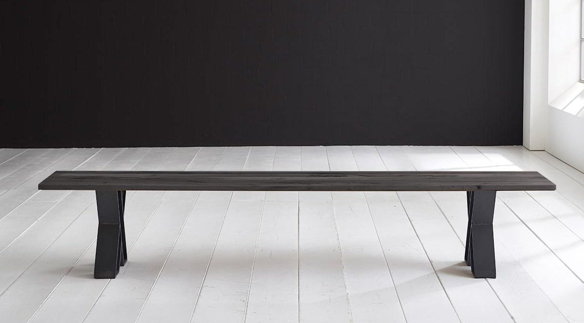 Concept 4 You Spisebordsbænk – X-ben 220 x 40 cm 3 cm 07 = mocca black