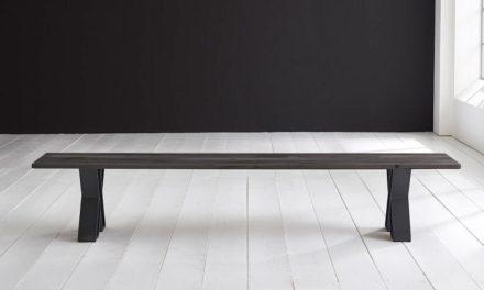 Concept 4 You Spisebordsbænk – X-ben 180 x 40 cm 3 cm 07 = mocca black