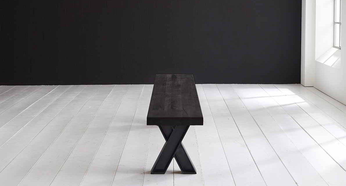 Concept 4 You Spisebordsbænk – X-ben 280 x 40 cm 6 cm 07 = mocca black