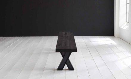 Concept 4 You Spisebordsbænk – X-ben 200 x 40 cm 6 cm 07 = mocca black