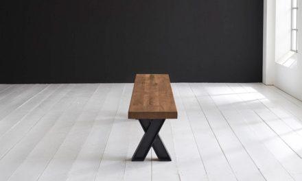 Concept 4 You Spisebordsbænk – X-ben 280 x 40 cm 6 cm 01 = olie