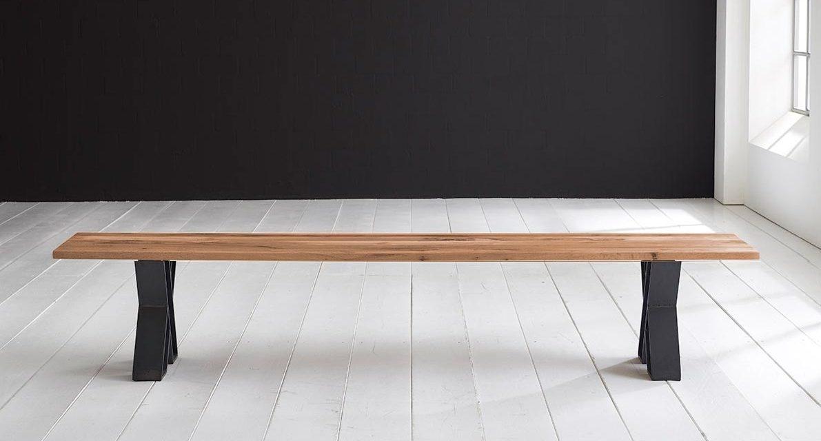Concept 4 You Spisebordsbænk – X-ben 260 x 40 cm 3 cm 01 = olie