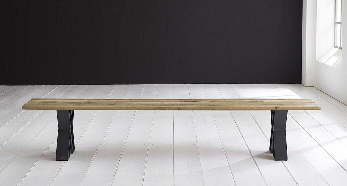 Concept 4 You Spisebordsbænk – X-ben 200 x 40 cm 3 cm 05 = sand