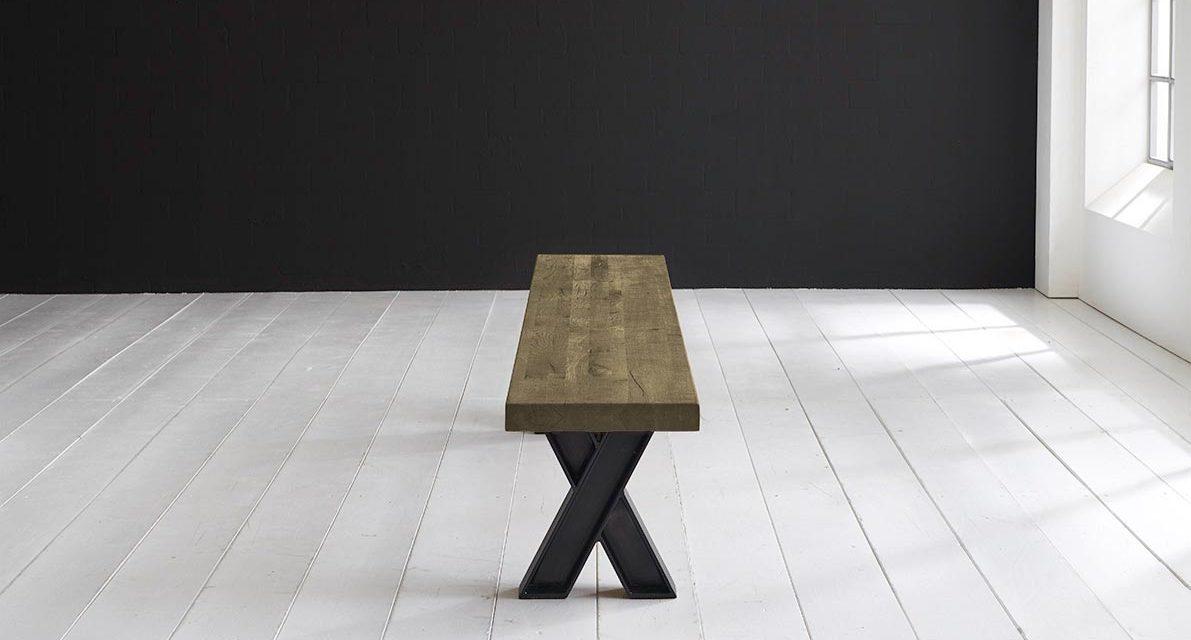 Concept 4 You Spisebordsbænk – X-ben 200 x 40 cm 6 cm 05 = sand