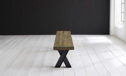 Concept 4 You Spisebordsbænk – X-ben 220 x 40 cm 6 cm 05 = sand