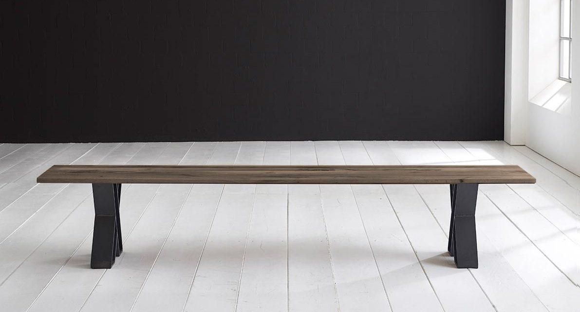 Concept 4 You Spisebordsbænk – X-ben 180 x 40 cm 3 cm 02 = smoked