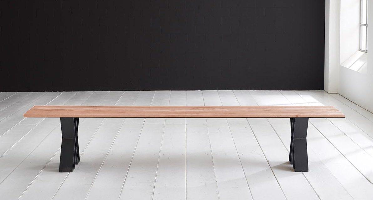 Concept 4 You Spisebordsbænk – X-ben 200 x 40 cm 3 cm 03 = white wash