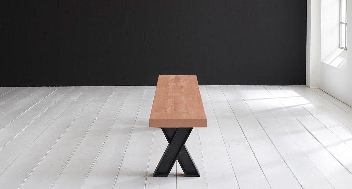 Concept 4 You Spisebordsbænk – X-ben 260 x 40 cm 6 cm 03 = white wash