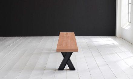 Concept 4 You Spisebordsbænk – X-ben 180 x 40 cm 6 cm 03 = white wash