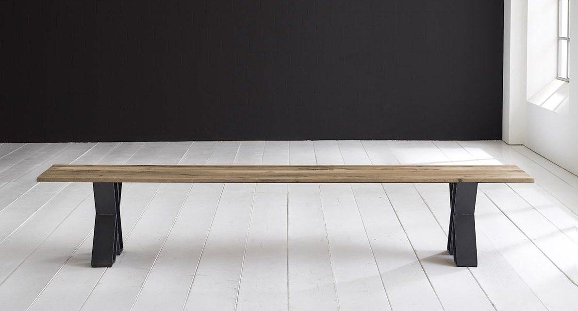 Concept 4 You Spisebordsbænk – X-ben 260 x 40 cm 3 cm 04 = desert