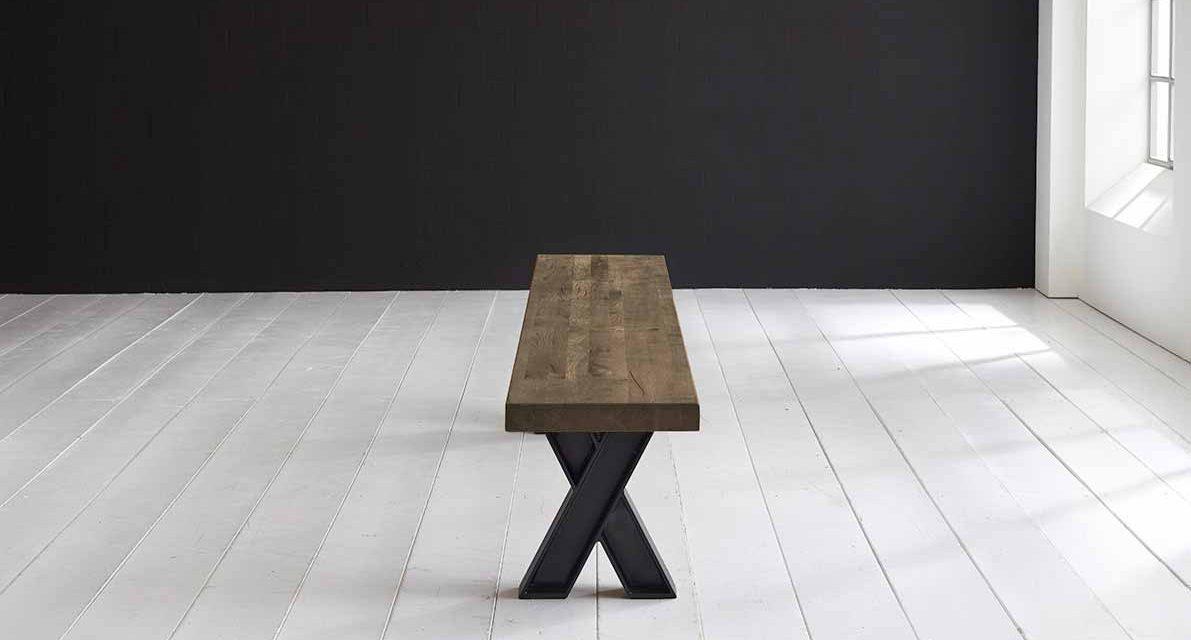 Concept 4 You Spisebordsbænk – X-ben 220 x 40 cm 6 cm 04 = desert