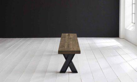 Concept 4 You Spisebordsbænk – X-ben 180 x 40 cm 6 cm 04 = desert