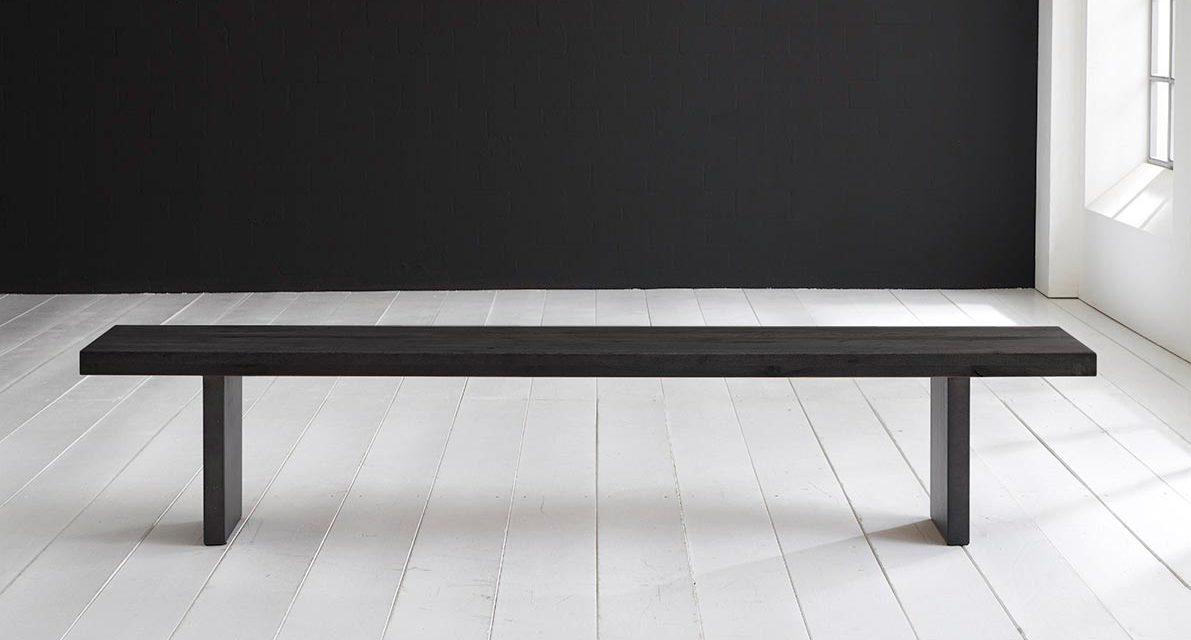Concept 4 You Spisebordsbænk – T-Ben 240 x 40 cm 6 cm 07 = mocca black