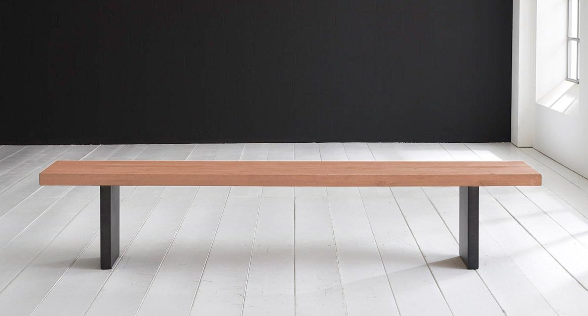 Concept 4 You Spisebordsbænk – T-Ben 280 x 40 cm 6 cm 03 = white wash