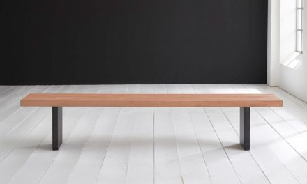 Concept 4 You Spisebordsbænk – T-Ben 200 x 40 cm 6 cm 03 = white wash