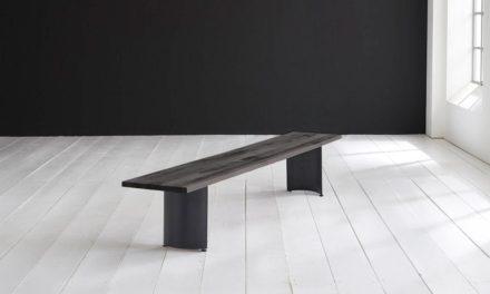 Concept 4 You Spisebordsbænk – Arc-ben 220 x 40 cm 3 cm 07 = mocca black