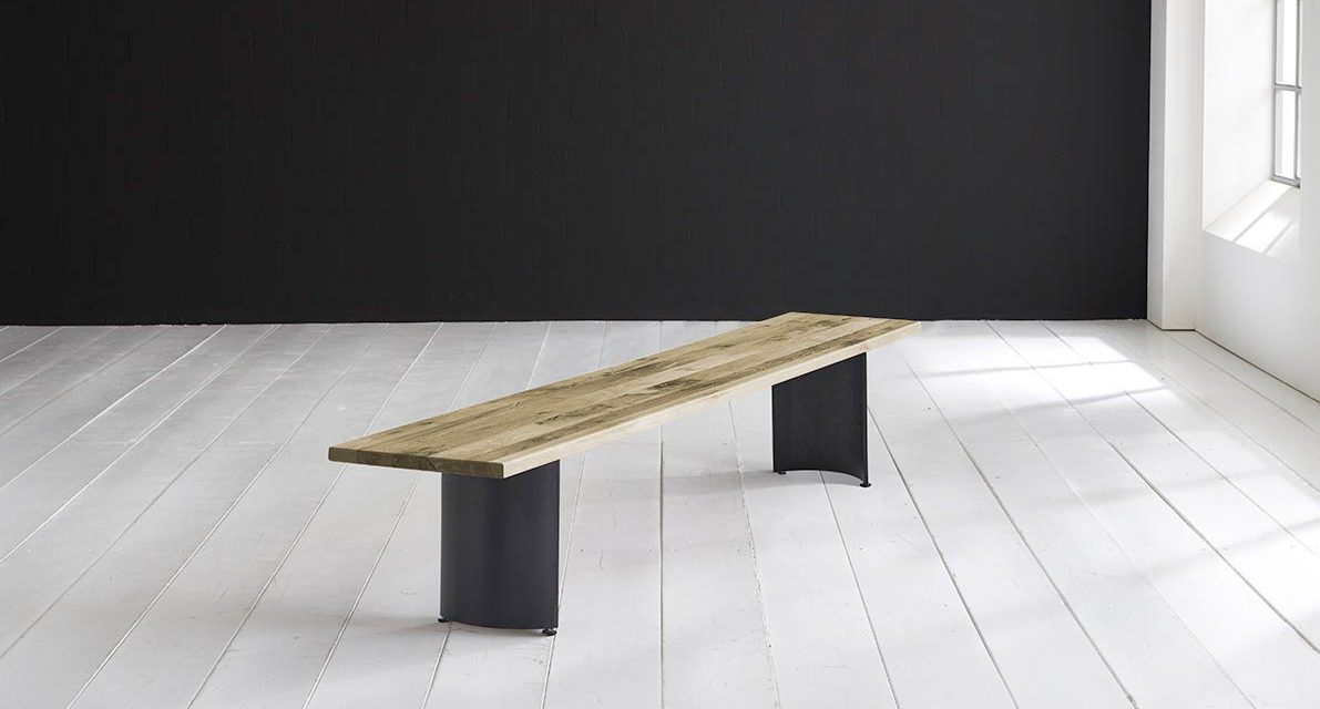 Concept 4 You Spisebordsbænk – Arc-ben 240 x 40 cm 3 cm 05 = sand
