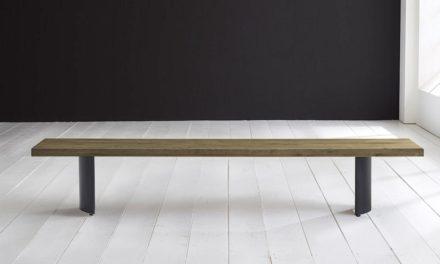 Concept 4 You Spisebordsbænk – Arc-ben 300 x 40 cm 6 cm 05 = sand