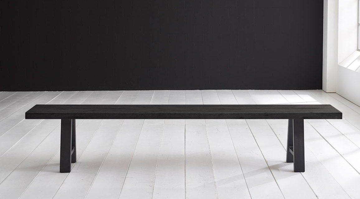 Concept 4 You Spisebordsbænk – Halo-ben 260 x 40 cm 6 cm 07 = mocca black