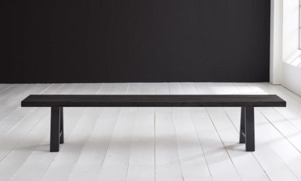 Concept 4 You Spisebordsbænk – Halo-ben 180 x 40 cm 6 cm 07 = mocca black