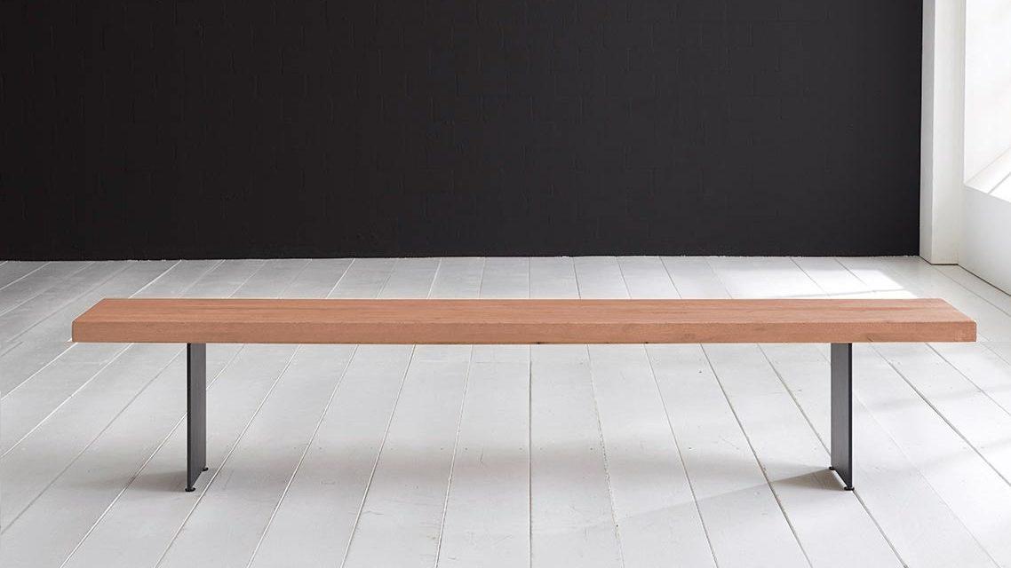 Concept 4 You Spisebordsbænk – Line Ben 200 x 40 cm 6 cm 03 = white wash