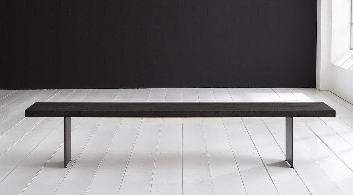 Mokkablack Træ Og Metal spisebordsbænk fra Concept4you til dit hjem