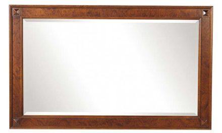 Mozart vægspejl – valnøddebrun, rektangulært (85×140)