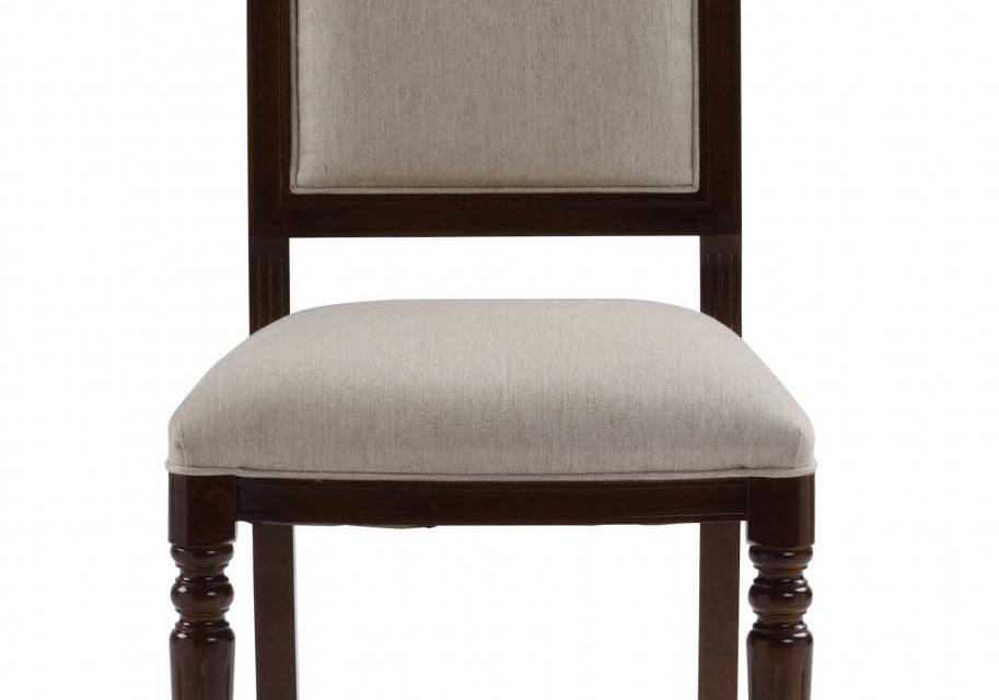 Mozart spisebordsstol – valnød/beige