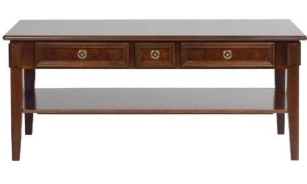 Mozart sofabord – valnøddebrun m. 3 skuffer