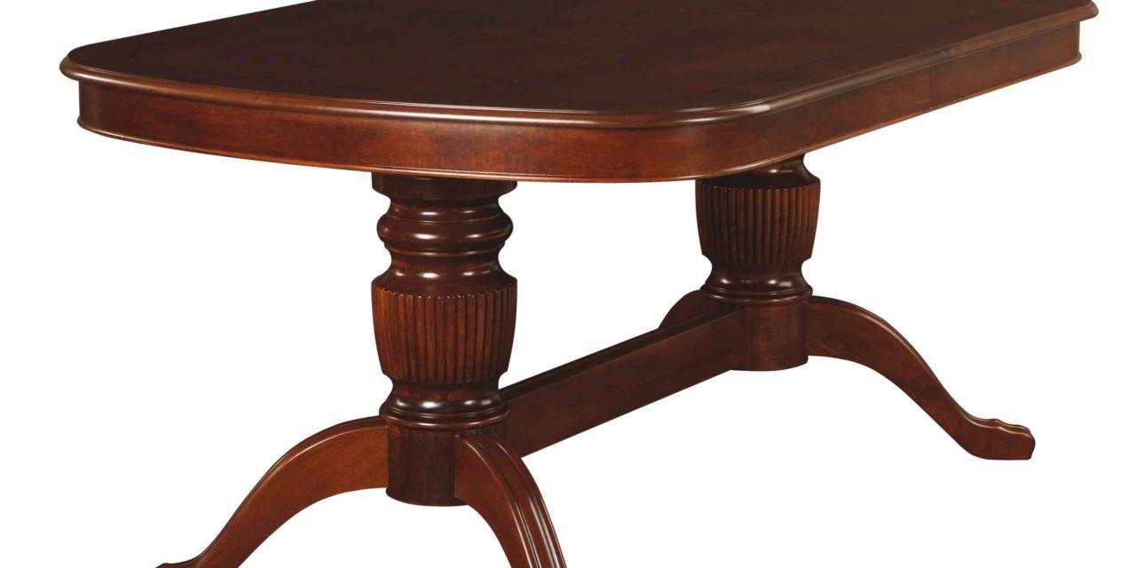 Mozart spisebord – valnøddebrun, oval incl. 2 tillægsplader