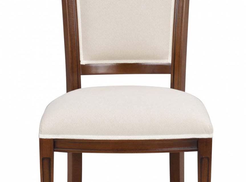 Amore spisebordsstol – valnød og beige stof