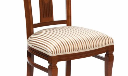 Ramona spisebordsstol – Lakeret træ, stof hynde