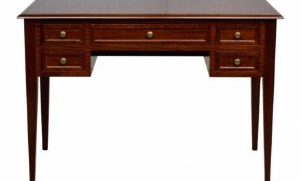 Leonardo skrivebord – valnød m. 5 skuffer