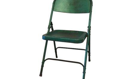 Stilfuld Original grøn klapstol i metal fra det kendte mærke Själsö Nordic