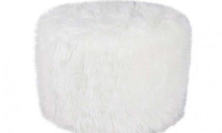 Round deco skin puf, hvid