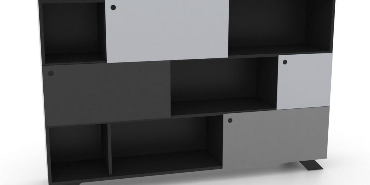 K2 Depot – 1800-3 Skråben Sort Monokrome låger