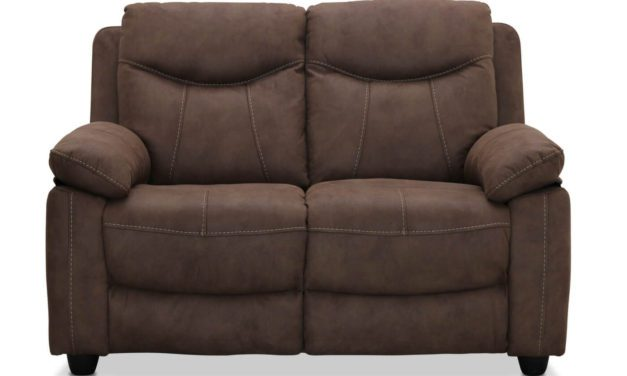 Boston 2 personers sofa, brun stof