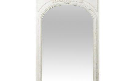 CHIC ANTIQUE vægspejl – hvid, antik