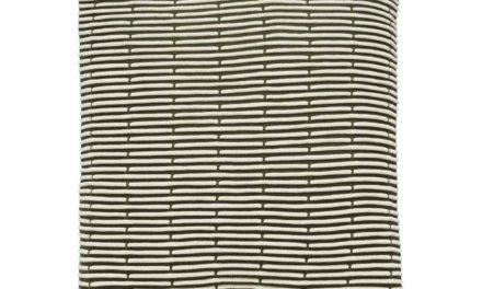 HÜBSCH pude m. mønster – grøn/hvid bomuld (50×50)