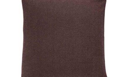 HÜBSCH pude – mørkerød bomuld (50×50)